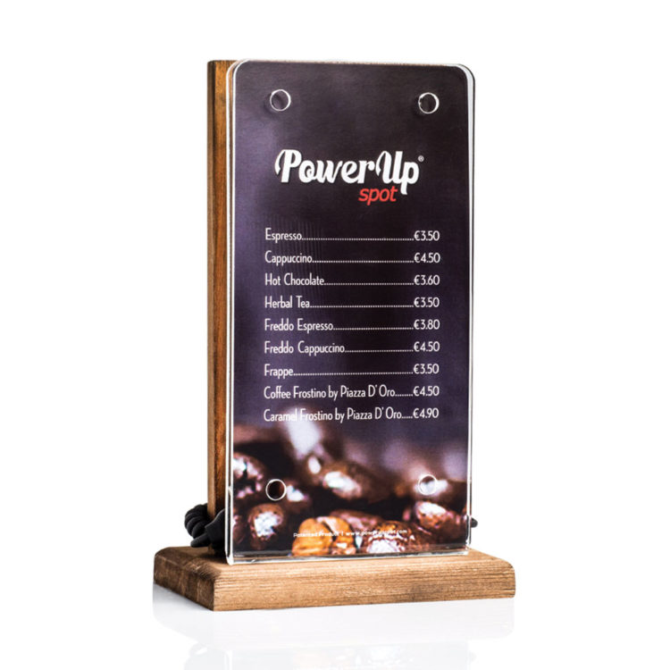 power-up-spot-tabletop-charger-customised-cafe-restaurant-bar-hotel-natural-wood-flyer