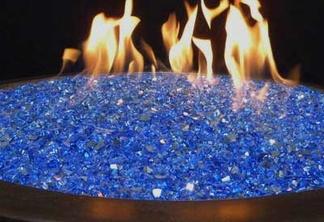 Reflective fireglass