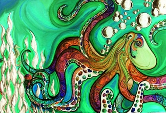 Psychedelic octopus by master of puppets12 d3eziyc
