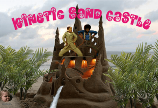 Kinetic sandcastle