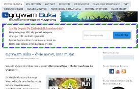Design bloga ogrywambuka.pl