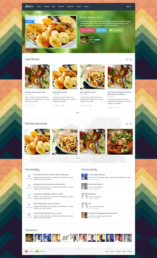 Jaki szablon wybrać na bloga kulinarnego