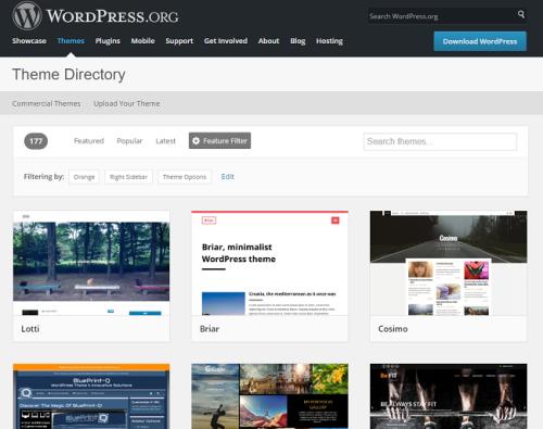 Wordpress.org darmowe szablony na bloga