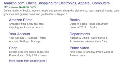 Bezpośrednie linki w wyszukiwarce
