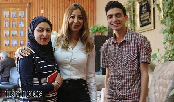 """الإعلامية والممثلة المصرية """"هند رضا""""مع اعضاء إنسايدر."""