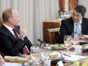 Gabor Steingart (rechts) im Gespräch mit dem russischen Präsidenten.Foto: The Russian Government