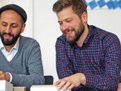 Die beiden Gründer von Conflictfood, Salem el-Mogaddedi und Gernot Würtenberger. Foto: Evelyn Bencicova