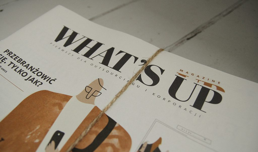 logotype design for monthly What's Up Magazine