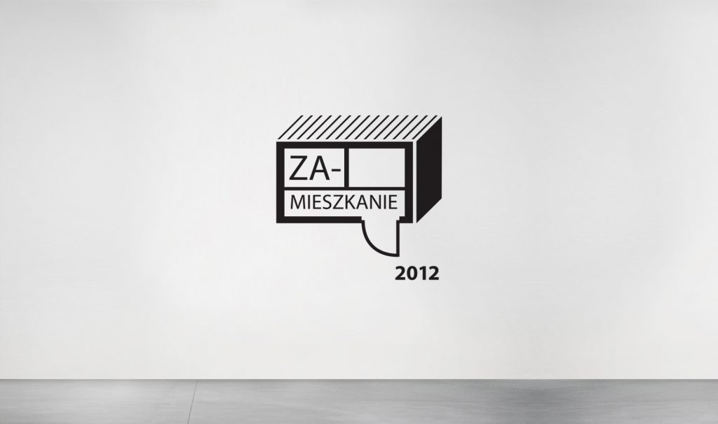 "logotype and CI of an exhibition ""Inhabitation 2012"""