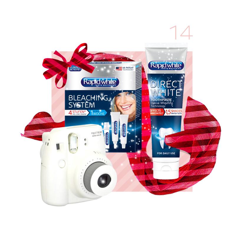 RapidWhite Set mit Polaroid Kamera