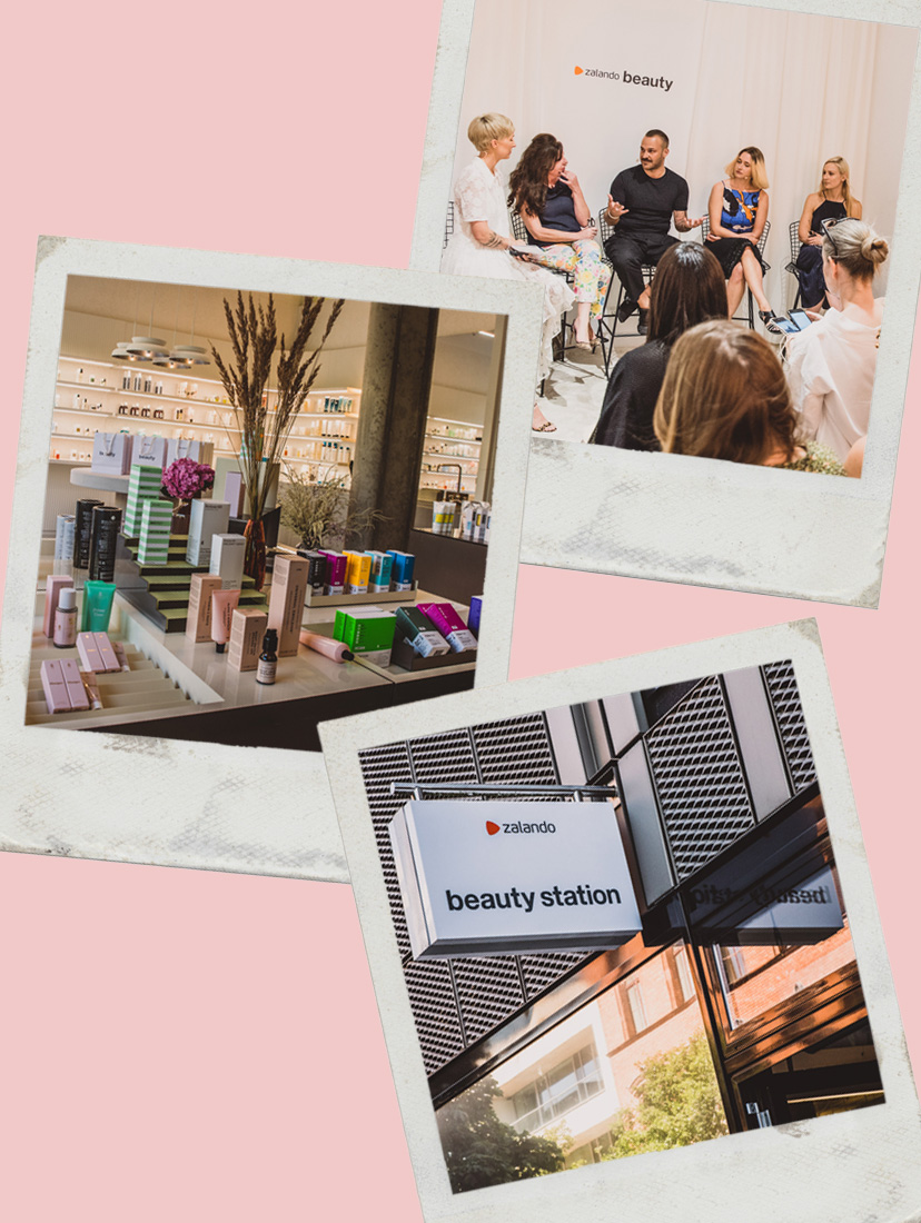 Polaroids der Zalando Beauty Station