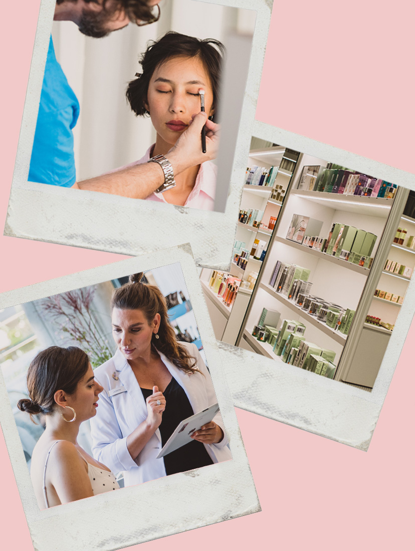 3 Polaroids der Zalando Beauty Station