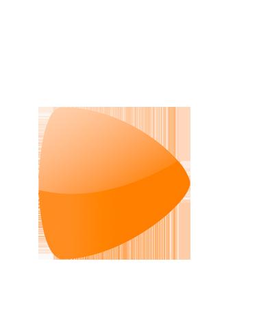 oranges Dreieck des Zalando Logos