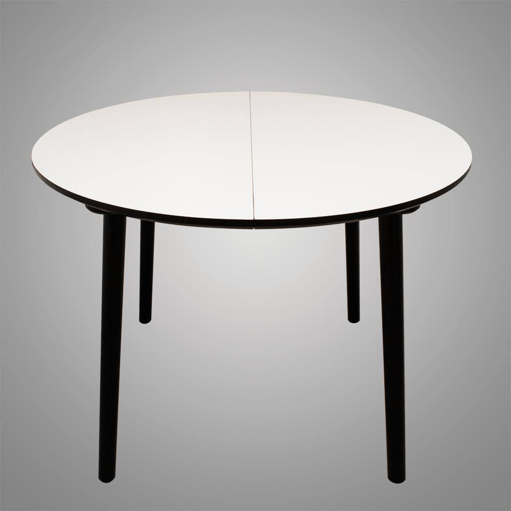 Rundt Kjøkkenbord Ikea: Rundt spisebord med udtr?k her helt hvidt ...