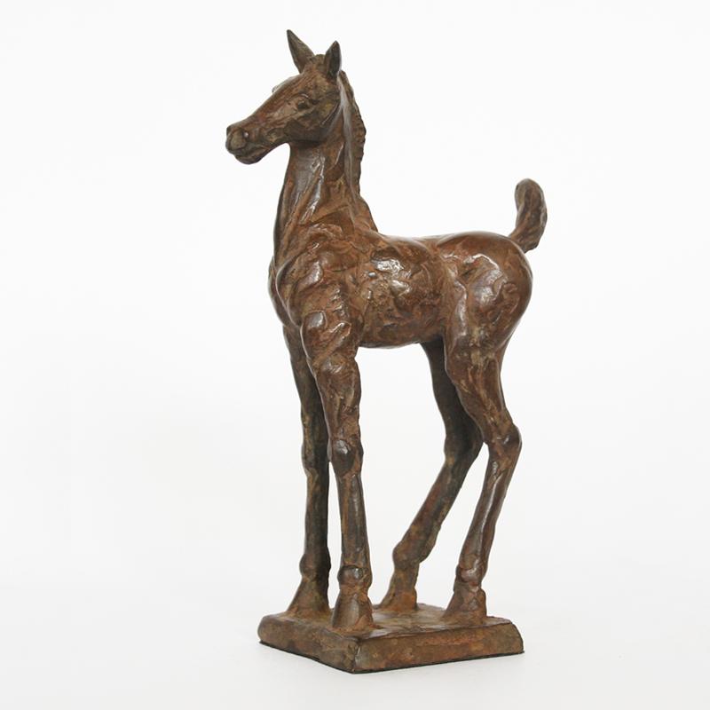 Maurice den boer  veulentje  brons  17 x 11 cm. e. 450 00  %282%29