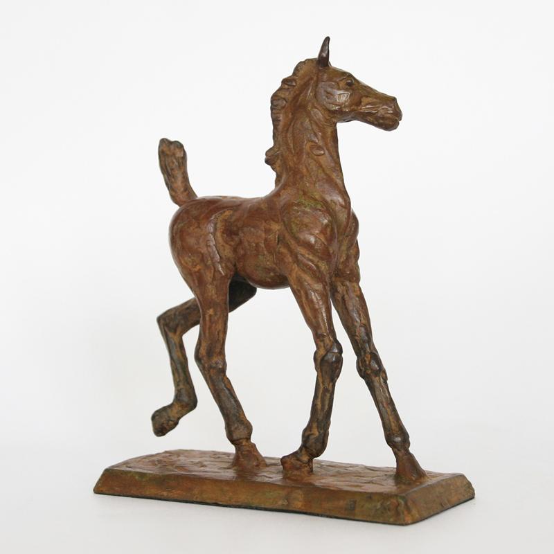 Maurice den boer  dartel veulen  brons  16 x 12 cm. e. 450 00.  r