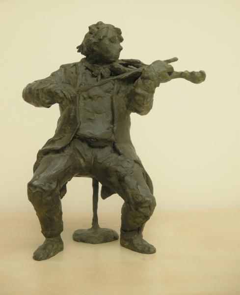 Rob houdijk  violist  brons  oplage 8  hoogte 32 cm. e. 2400 00.