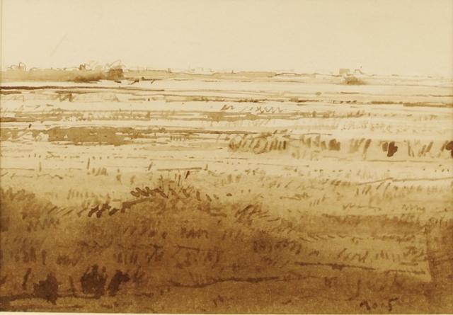 Jan van der kooi  zeeland ii penseeltekening   bister 35 x 40 cm. e. 1500 00 %282%29 %28640x445%29