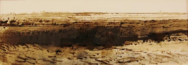 Jan van der kooi  zeeland iii  penseel tekening  1600 00  40 x 60 cm. %282%29 %28640x221%29