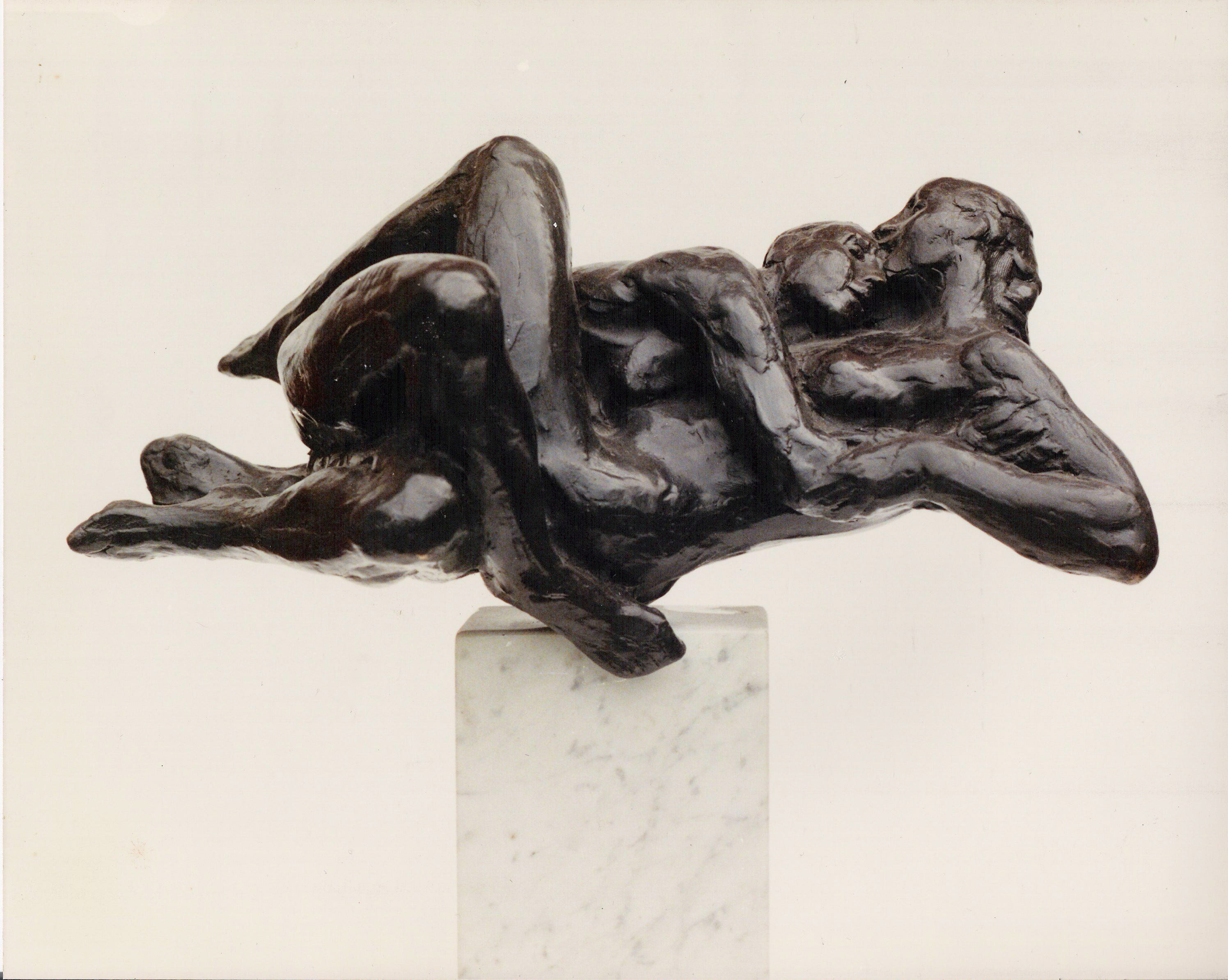 Eddy roos  twee figuren waaier  brons  oplage 8  36 x 35 cm. e. 4500 00  gr