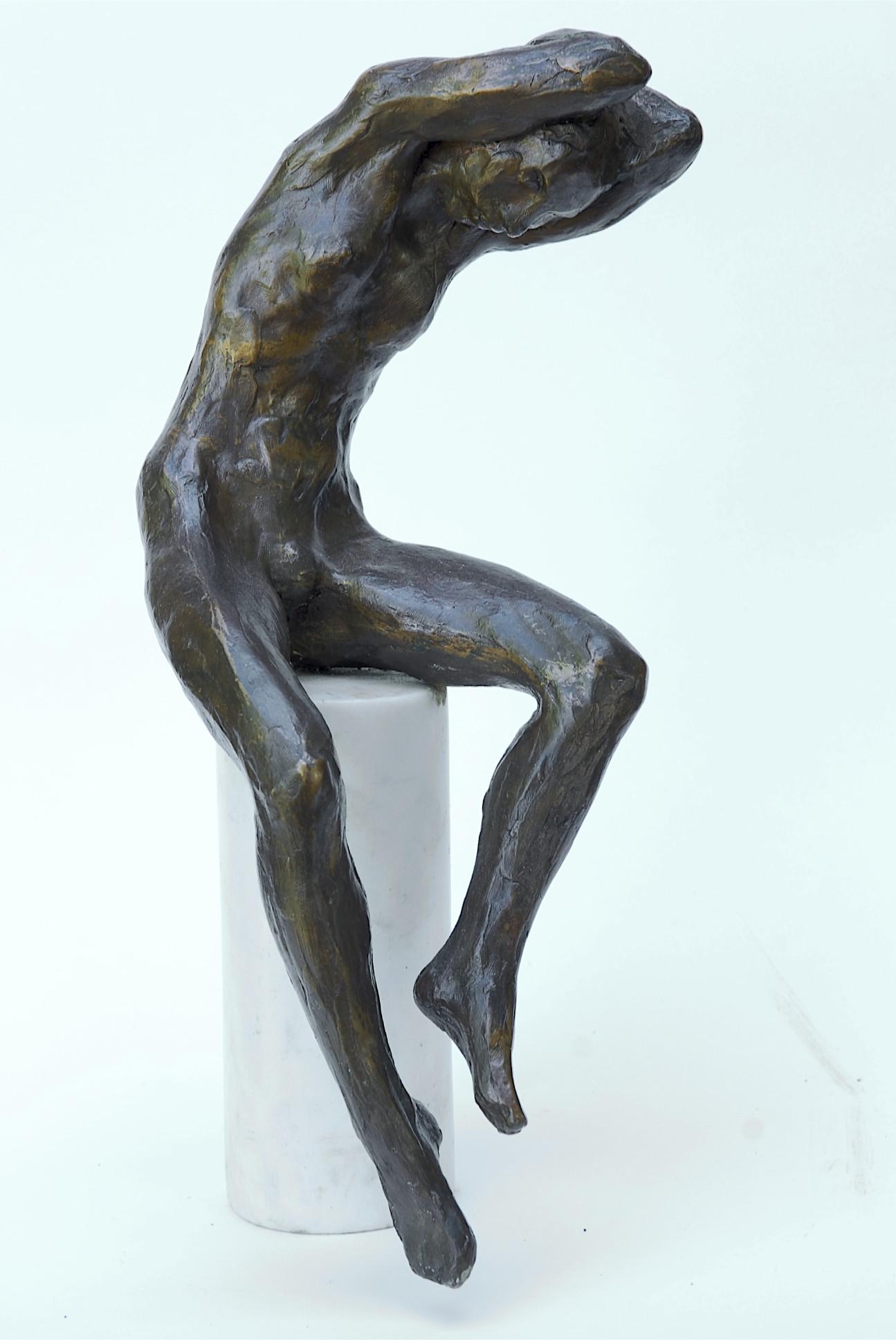 Eddy roos  zittende liesbeth  brons  oplage 8   hoog 40 cm. e. 4000 00