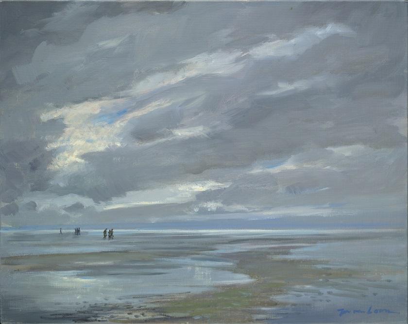 Jan van loon  eb  olieverf  80 x 100 cm.  e. 4850 00