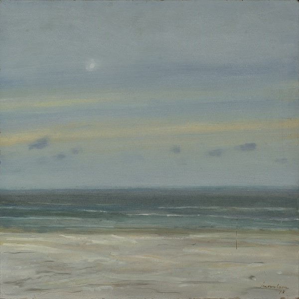 Jan van loon  stilte  olieverf  40 x 40 cm. e. 900 00