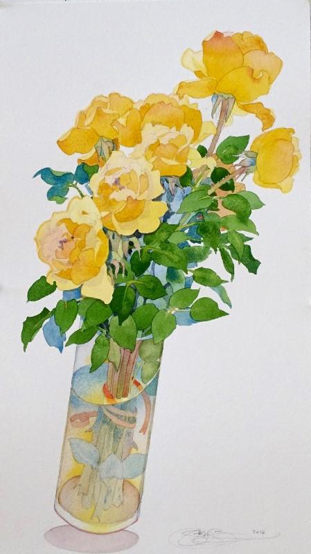 Gary bukovnik   roses i 58x33cm