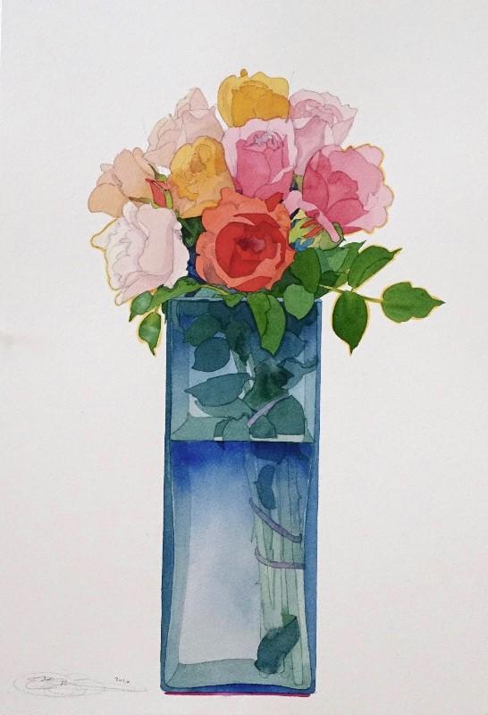 Gary bukovnik   roses ii  55x38cm