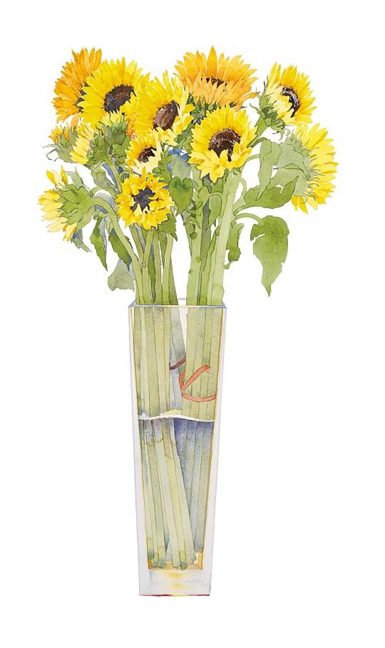 Gary bukovnik  sunflowers in a tall vase 92x54cm 29891.garybukovnik16047 rgb