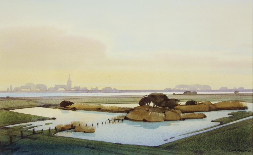 Gerrit neven  everdingen  aquarel  50 x 50 cm. e. 1350 00