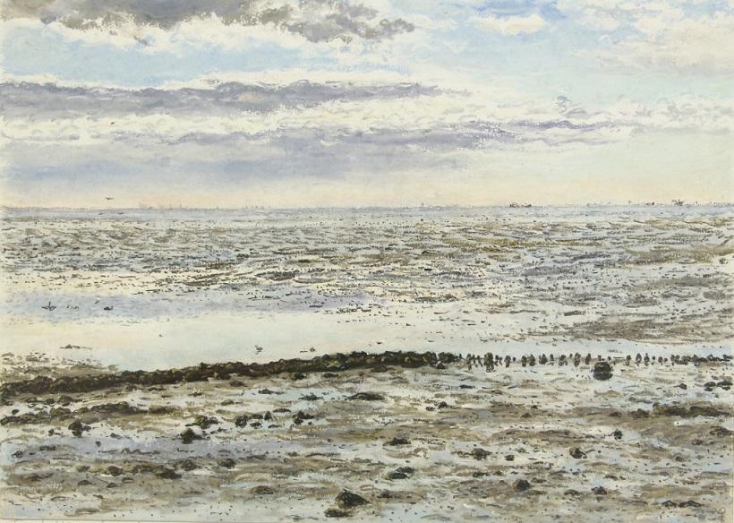 Joanna quispel  terschelling  wad  pastel  25 x 35 cm. e. 850 00