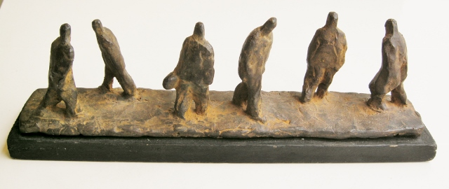 Marina van der kooi  straatje  brons  e. 575 00  7 5 x 23 x 5 cm.