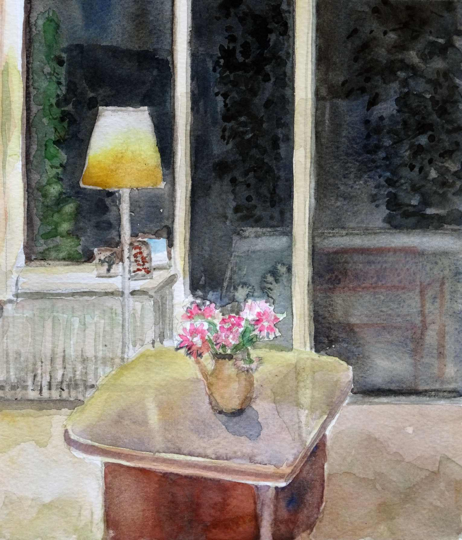 Ineke van haalen   interieur  aquarel  21 x 20  %e2%82%ac400