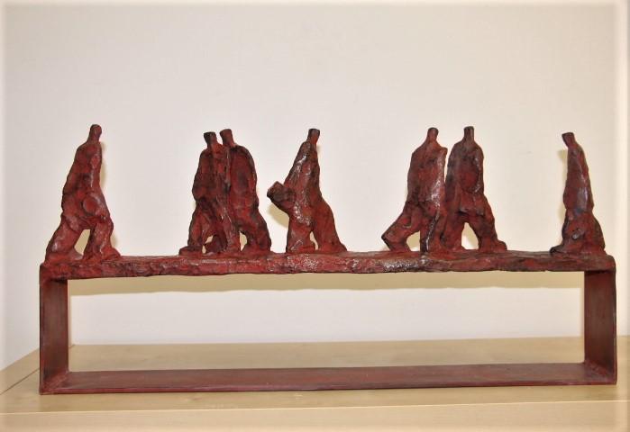 Marine van der kooi  grote straat  brons rood gepatineerd  36 x 75cm  oplage 3  e. 2950 00