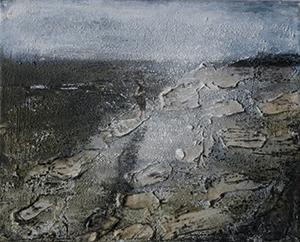 Krin rinsema  zonder titel  acryl op doek  30 x 40 cm.