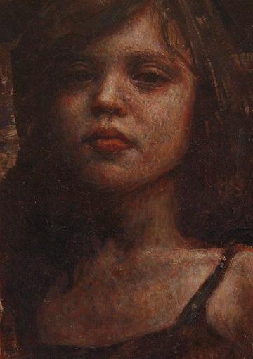 Portret  olieverf op paneel 10 x 15 cm 650