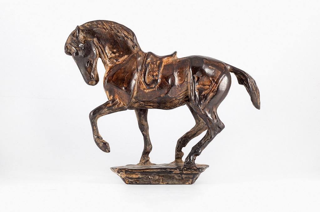 Peter engelen  paard  brons