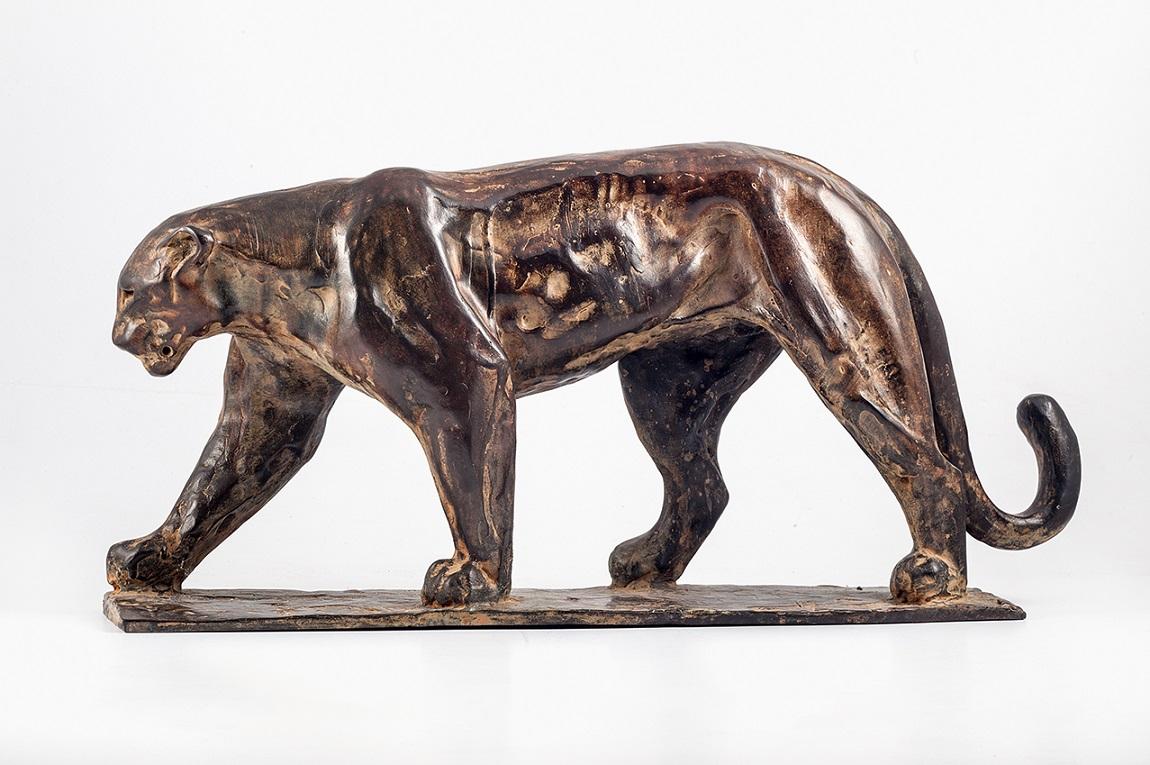 Peter engelen  panter  brons  43x29 cm.