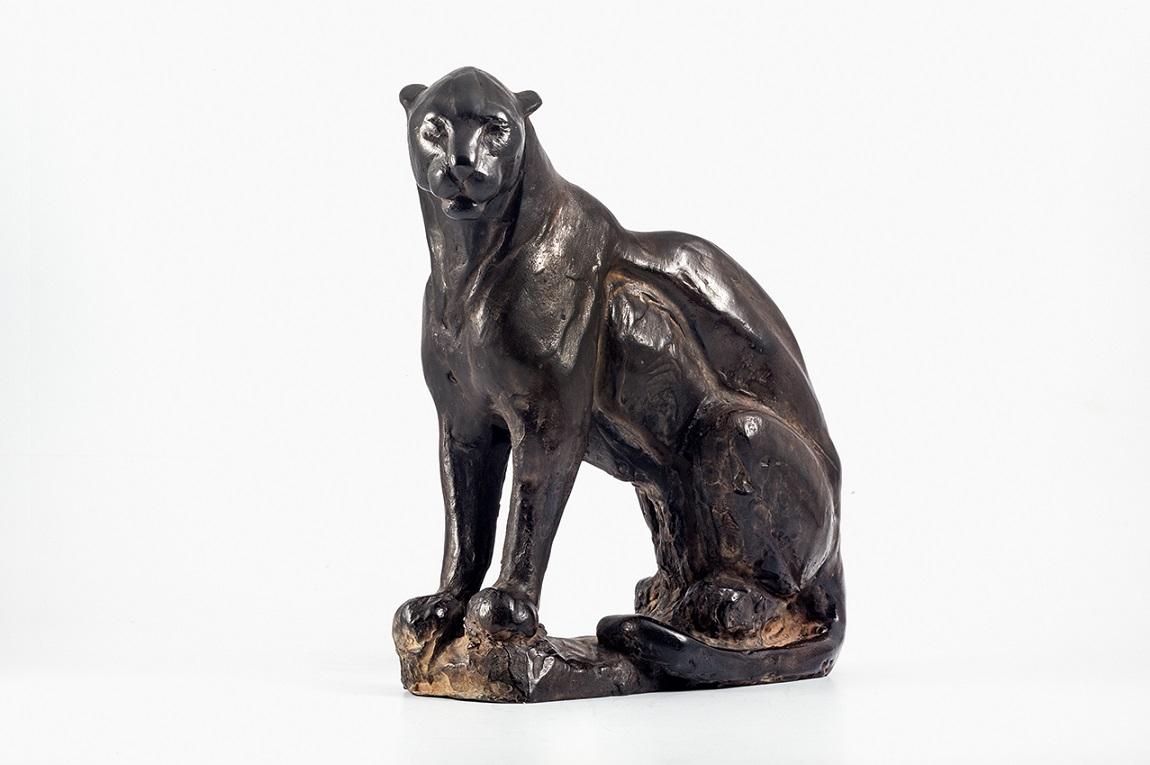 Peter engelen  panther  brons  28x22 cm.
