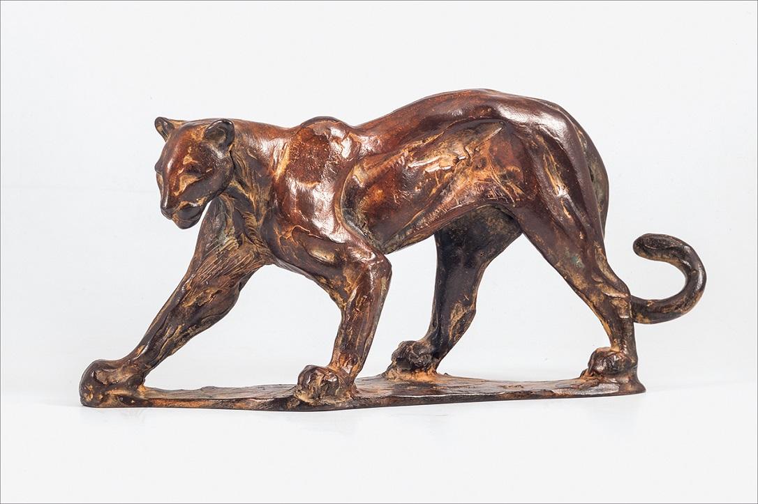 Peter engelen  puma  brons  30x14 cm.