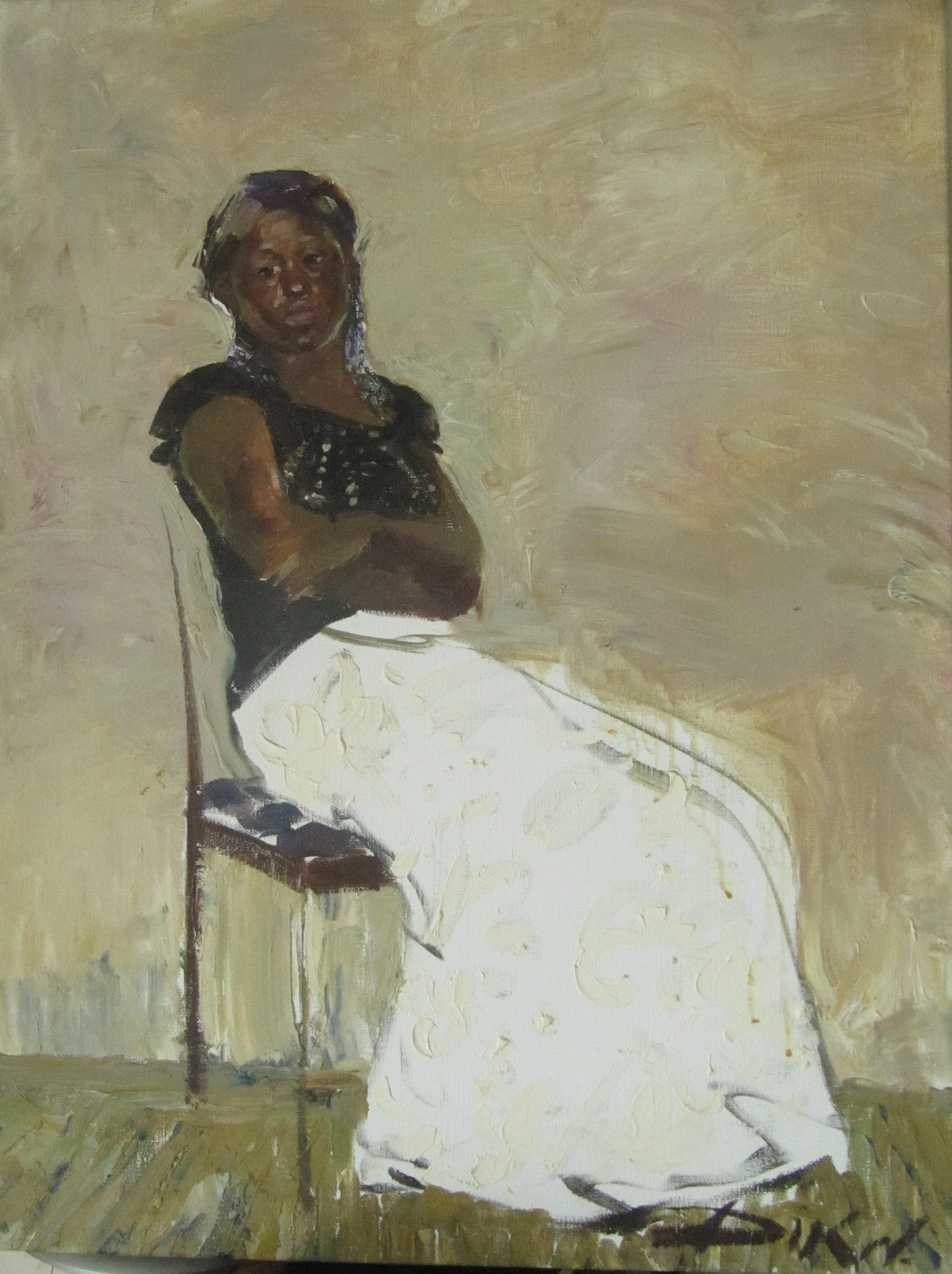 Natalia dik    portret  olieverf   80 x 60  e. 1800 00