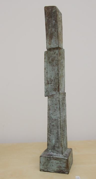 Gerry van der velden  wachter %28groot%29  oplage 1 van 5  brons  hoog 53 5 cm. breed 9 cm. diep 9 cm. %e2%82%ac 1250 00