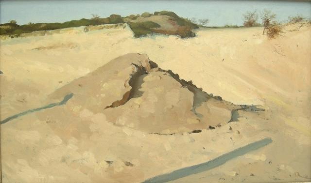 Adolfo ramon  kijkduin ii  olieverf  buitenmaten 48 x 69 cm. e. 2500 00