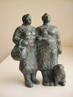 Karin beek  tantes  brons  hoogte 14 cm. e. 750 00