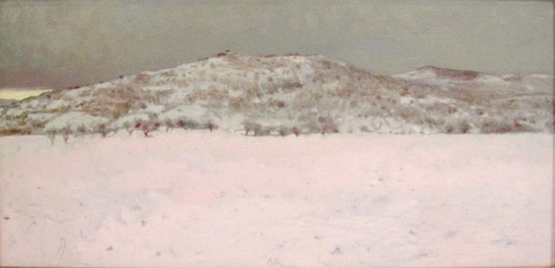 Adolfo ramon  sneeuwlandschap vi  acrylolieverf op paneel  46 x 73 cm.  2300