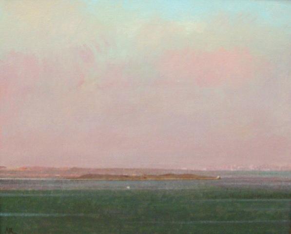 Adolfo ramon  zeeland bij schelpenhoek  acryl op doek  50 x 59 cm. e. 2600 00