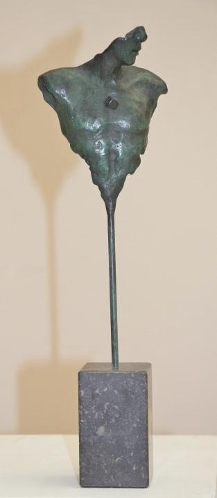 Eppe de haan  herinnering  klein  brons hoog 40 cm. %e2%82%ac 895 00