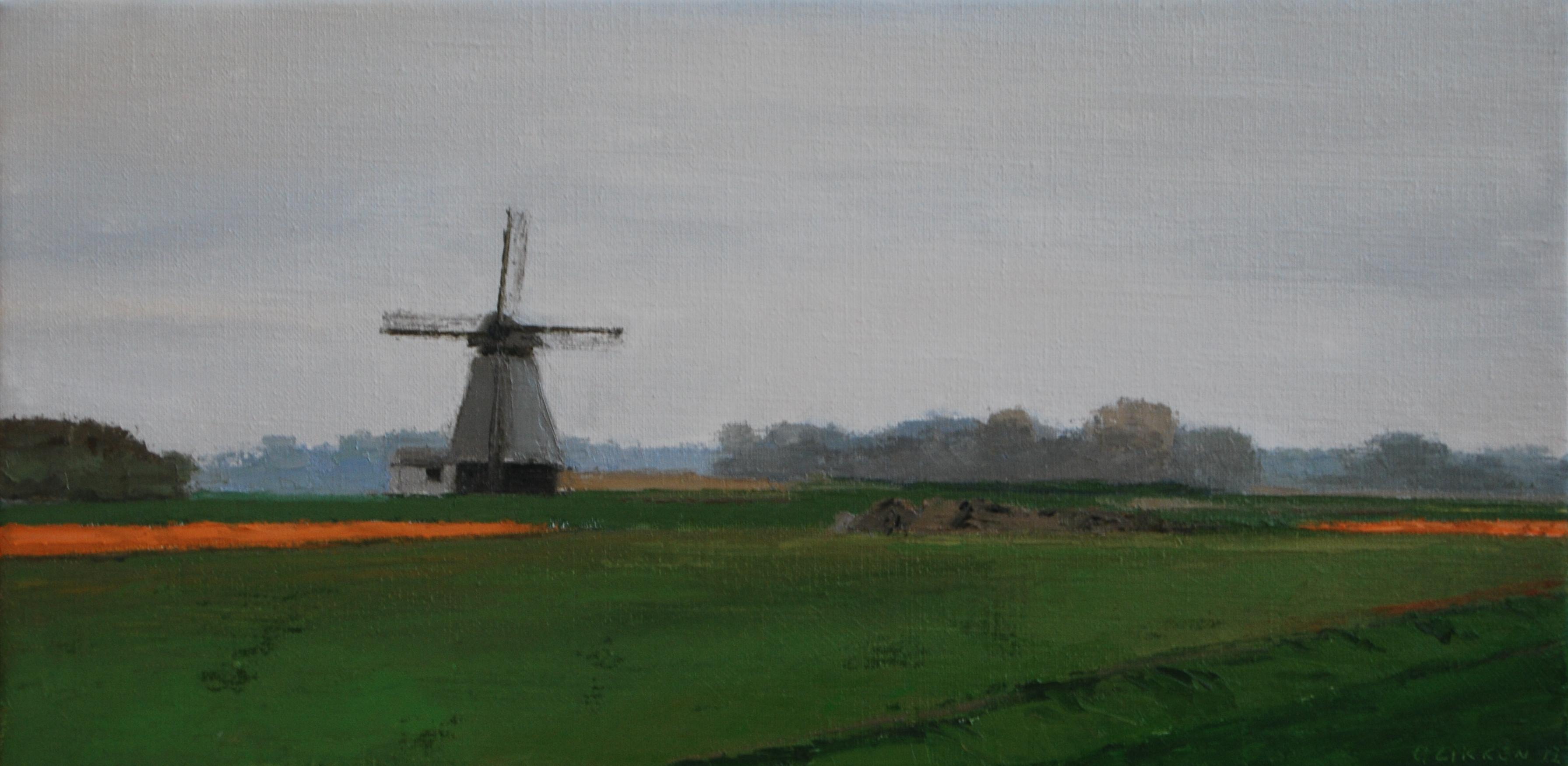 Gineke zikken    molen   oliev. 30 x 60 cm. %e2%82%ac1100   2012