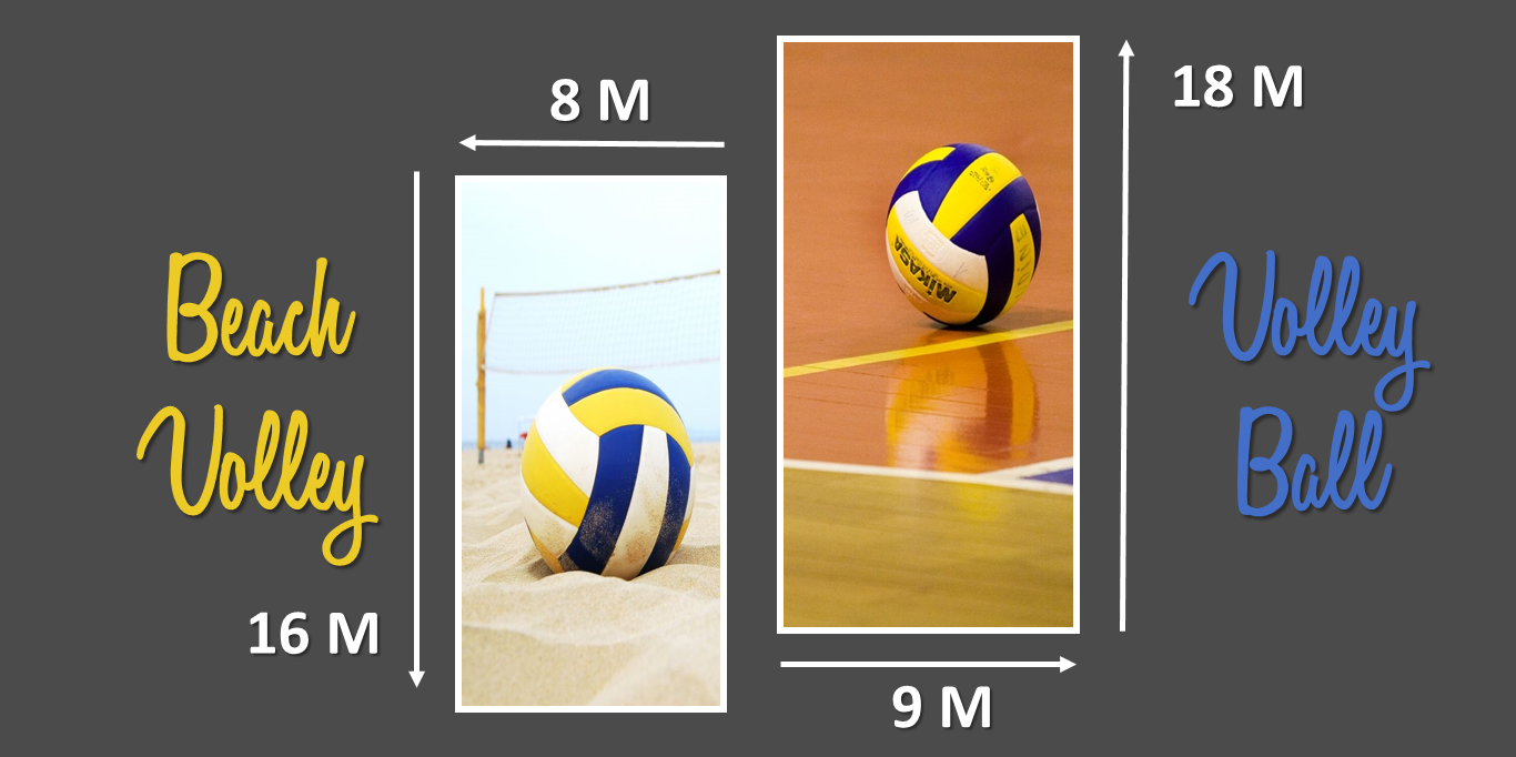 taille terrain volley